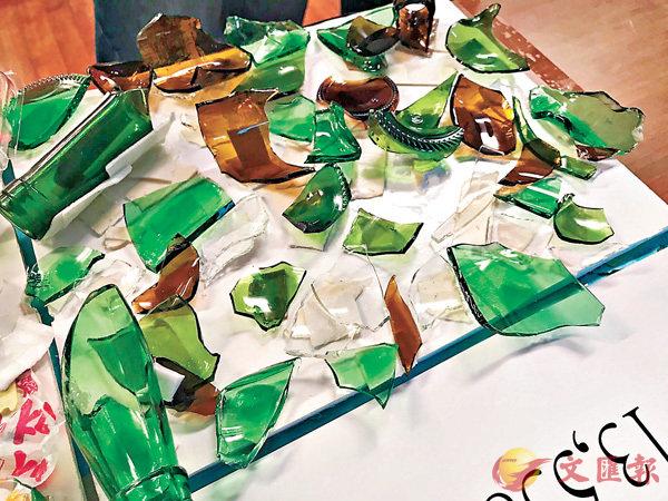 ■玻璃碎片成為香港主要的海洋垃圾。資料圖片