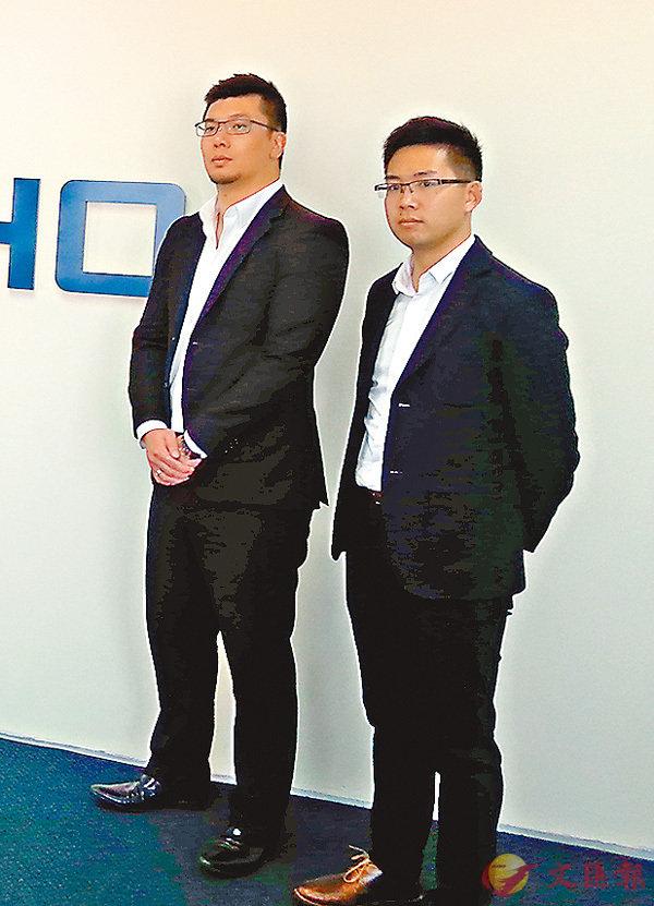 ■許俊邦(左)指,集團在香港主要收集廢棄電線電纜、電腦和手提電話等。香港文匯報記者岑健樂  攝