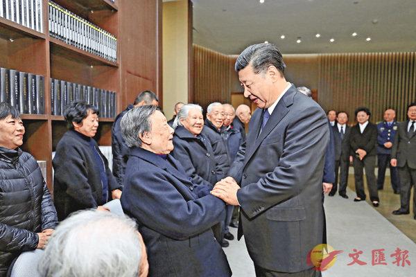 ■習近平親切會見南京大屠殺倖存者代表。 新華社