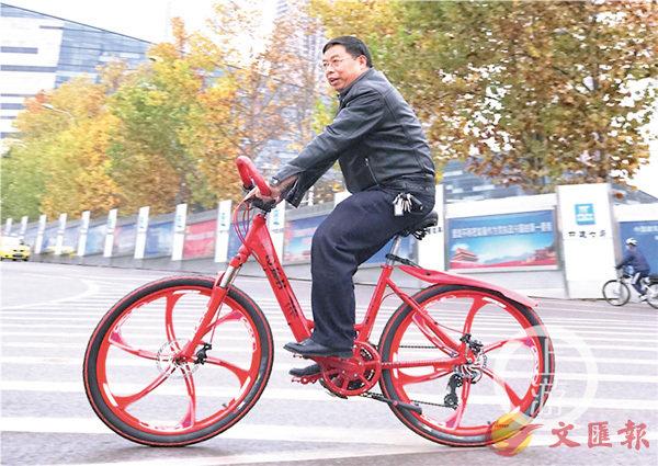 ■謝勇騎�茼菑v發明的「任意踩」單車。 網上圖片