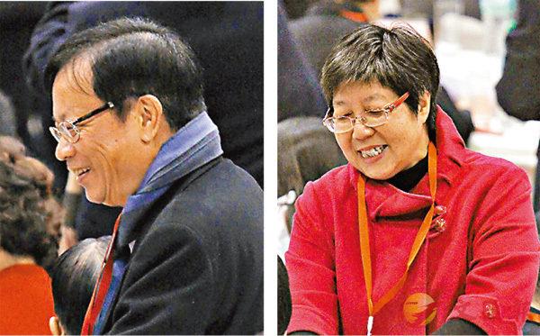 ■鄭耀棠、蔡素玉成功連任港區全國人大代表。 香港文匯報記者劉國權 攝