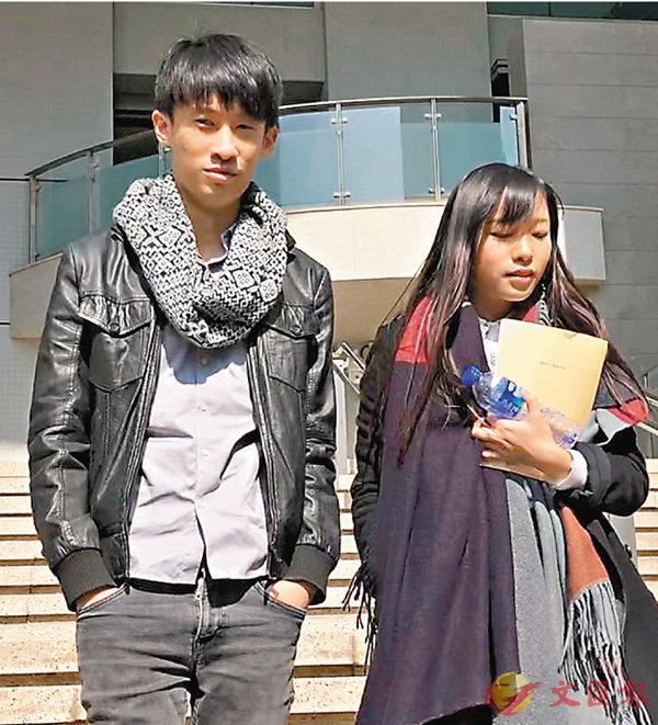 ■梁頌恆(左)和游蕙禎昨到庭應訊。