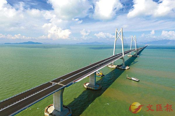 ■港珠澳大桥是大湾区「超级工程」.香港文汇报记者  摄 -高铁 三跑