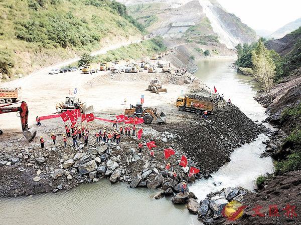 ■上年9月,貴州最大規模的夾岩水利工程成功截流,該工程建成後將惠及267萬人和90萬畝良田。 資料圖片