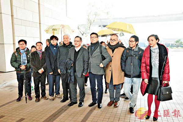 ■「佔中九丑」被控多項公眾妨擾罪名。 香港文匯報記者曾慶威 攝