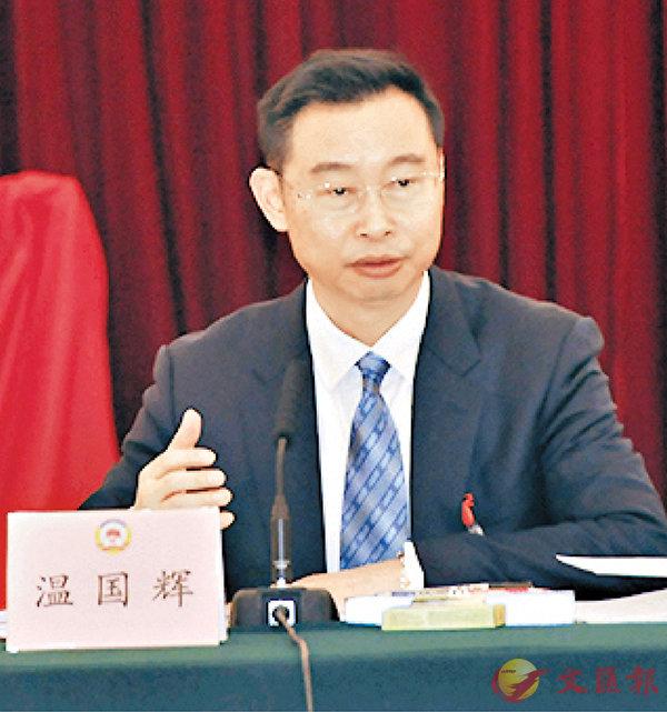 ■廣州市市長溫國輝   香港文匯報記者黃寶儀 攝