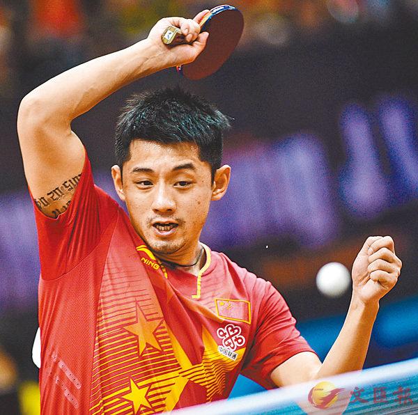 ■乒乓球名將張繼科。 新華社
