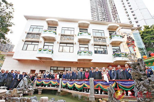 ■嗇色園黃大仙祠九龍壁綜合大樓正式啟用。 香港文匯報記者潘達文  攝