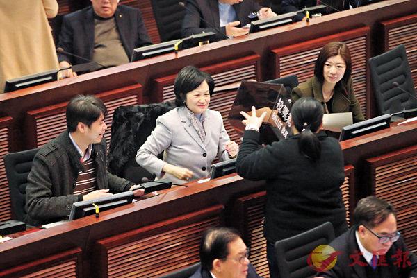 ■葉劉淑儀當選委員會主席。香港文匯報記者莫雪芝  攝