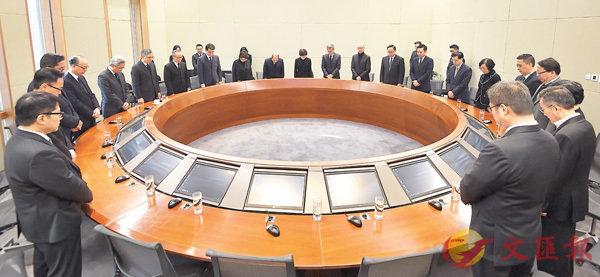 ■林鄭月娥昨早率領政府官員為罹難者默哀。