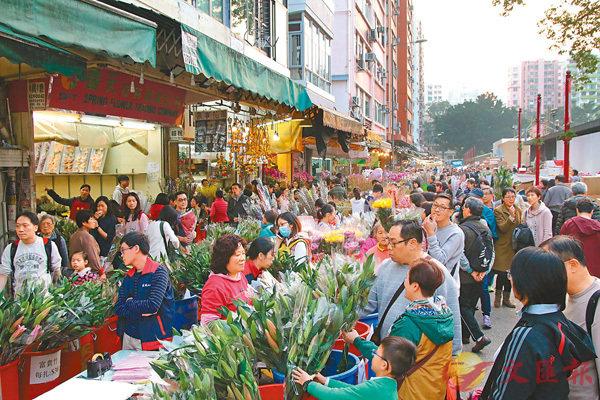■有花商料市民會因農曆新年的關係而少買情人節花束,不會出現節日的「協同效應」。 香港文匯報記者彭子文  攝