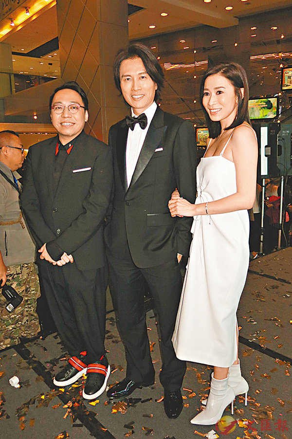 ■黃子華、佘詩曼、C 君出席《棟篤特工》首映禮。