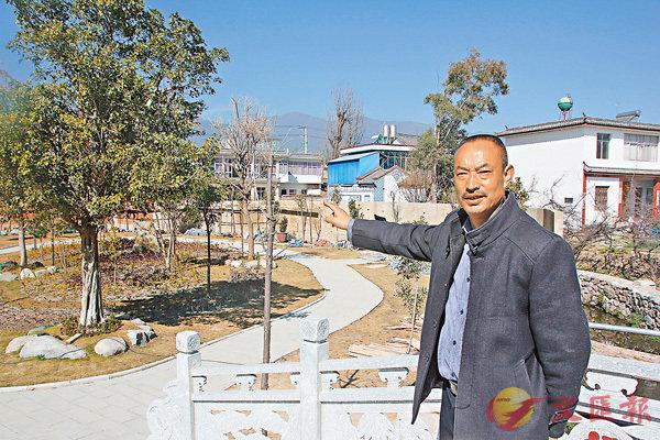 ■李德昌花大力氣修建的「鄉愁花園」目前已具雛形。 香港文匯報記者和向紅 攝