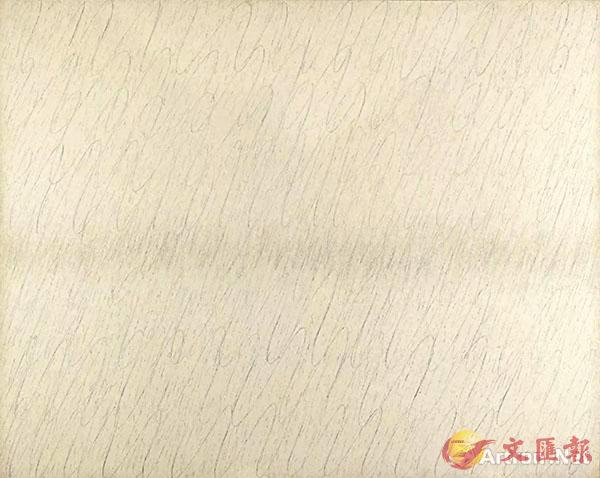 ■朴栖甫 (韓國,1931年生) 《描法 No. 11-78》 鉛筆 油彩 麻布 181.6 x 227 cm. 1979年作