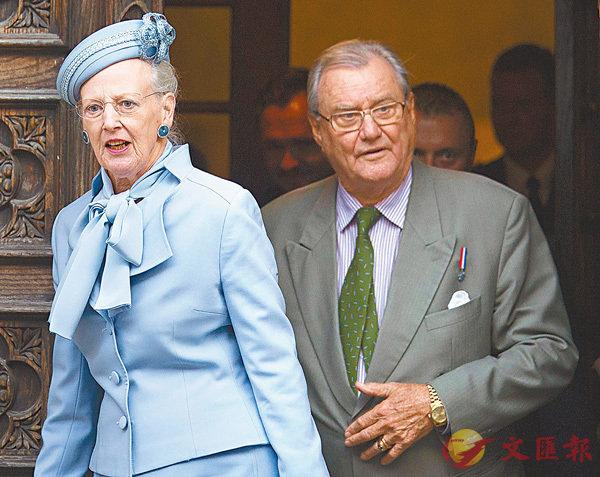 ■亨里克(右)曾表明不與瑪格麗特二世(左)合葬。 資料圖片