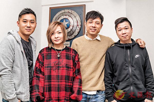 ■(左起)不動明王、七瀨、玻仔、Lau均是香港《KOF》好手。