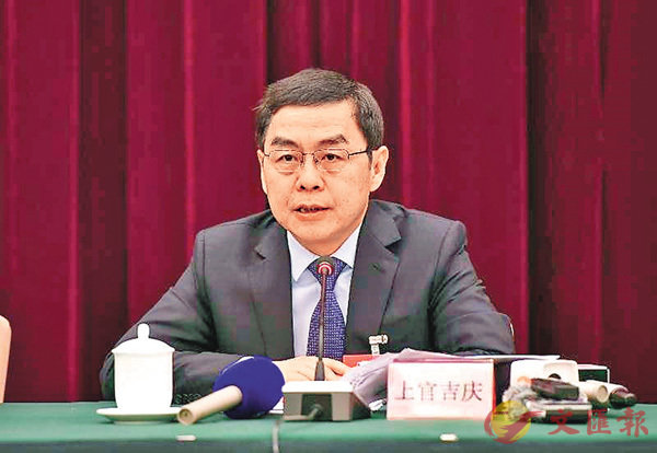 ■上官吉慶表示,國家中心城市是西安發展面臨的重大機遇。 李陽波  攝