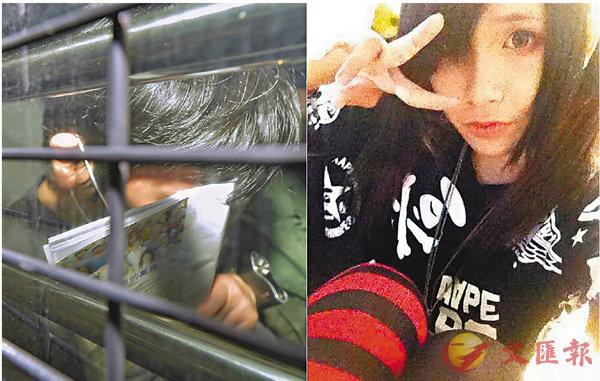 ■被告劉璋輝(左)謀殺罪成候懲,右為遇害少女郭惠明。星島日報圖片