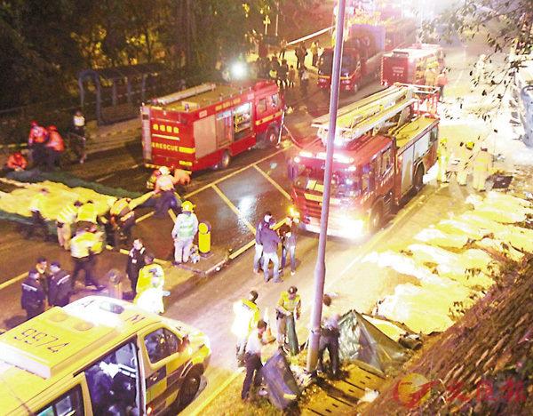 ■大埔公路上月發生巴士翻側慘劇,釀成19死超過60人傷。 資料圖片