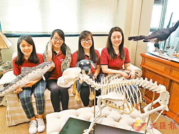 ■左起:林雋希、劉�鶻_、謝明懿、鄭樂施。香港文匯報記者姜嘉軒  攝