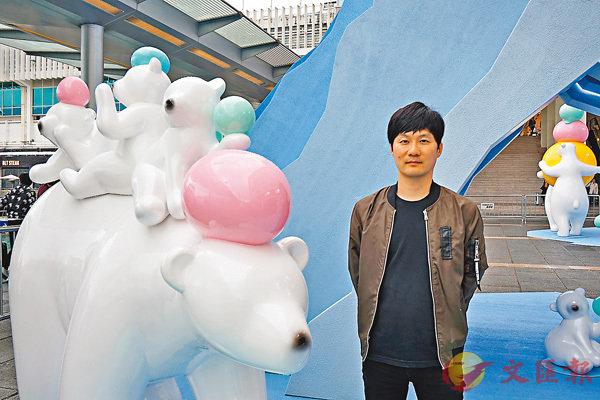 ■卞大龍由北極熊聯想到人類生活。