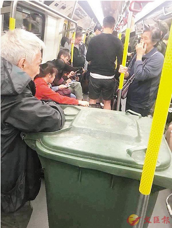 推大垃圾桶搭港鐵騎呢翁涉偷被捕(圖)