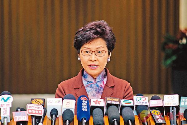 ■林鄭月娥。香港文匯報記者梁祖彝  攝