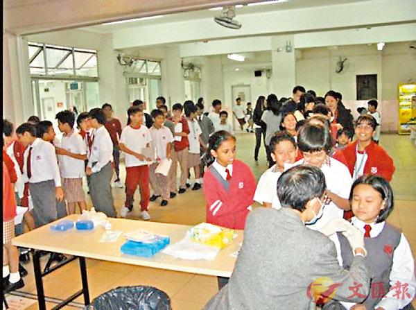 ■李陞大坑學校在2010年曾獲資助為學生注射噴鼻式流感疫苗。 受訪者供圖