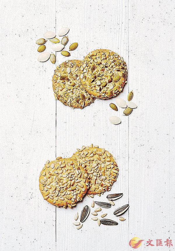 ■南瓜籽薄片(上)及葵花籽薄片(下)
