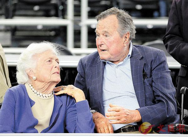■芭芭拉與老布什鶼鰈情深至今73年。 美聯社