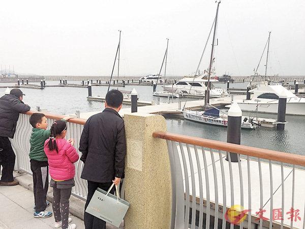 ■圖為青島萬達遊艇會。 香港文匯報記者殷江宏   攝