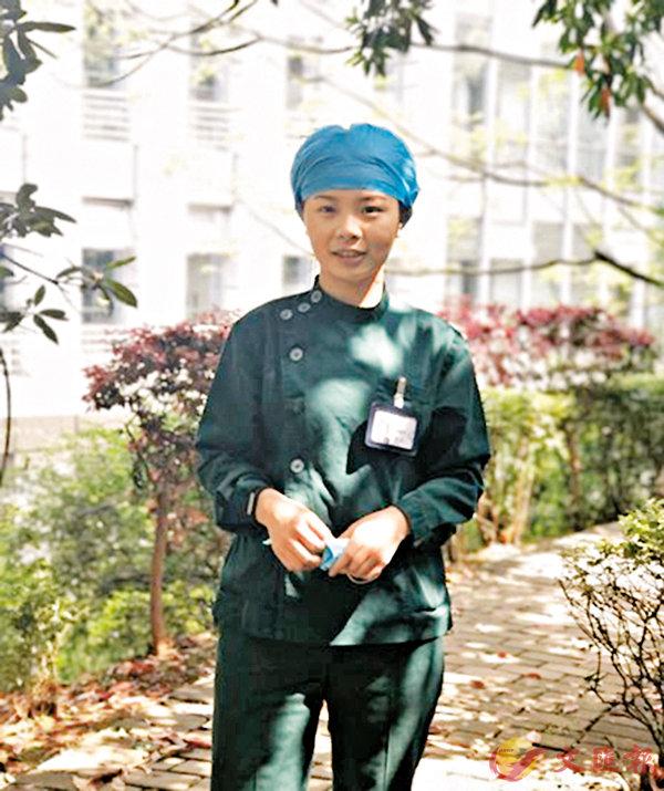 ■ 美女護士沈麗芳。香港文匯報湖南傳真