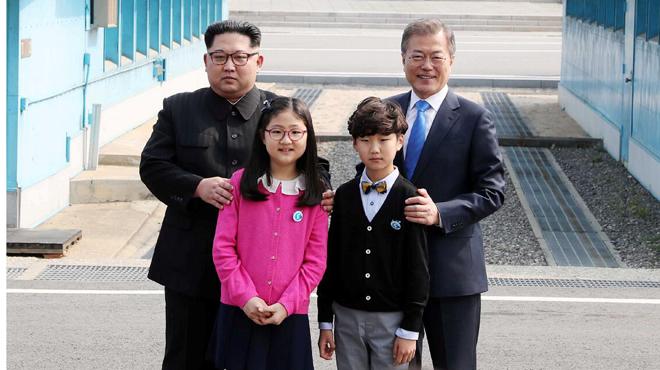 朝韓首腦會晤|獻花捲髮男童引關注