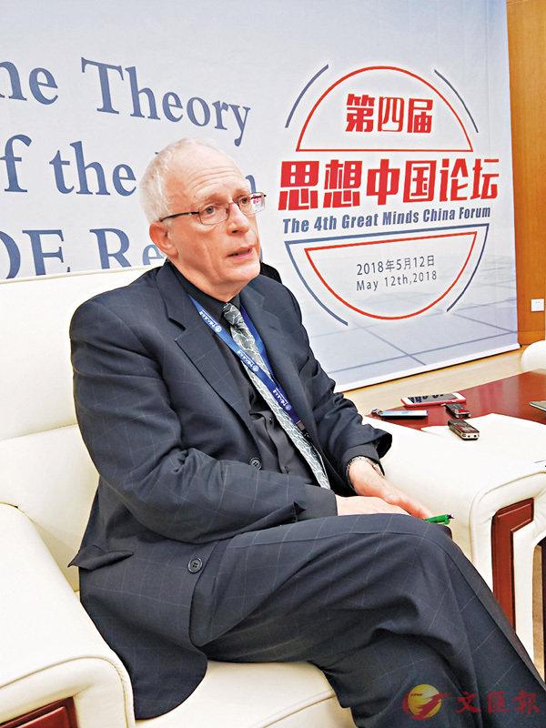 ■2016年諾貝爾經濟學獎得主之一、哈佛大學教授奧利弗·哈特。 朱燁  攝