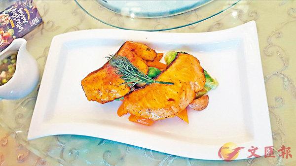 ■甜酒煎三文魚扒