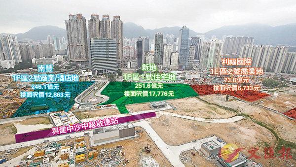 ■啟德第1F區1號地盤在兩幅商業地中間,加上前面為港鐵站,發展商自然願意出高價競逐。 香港文匯報記者曾慶威  攝