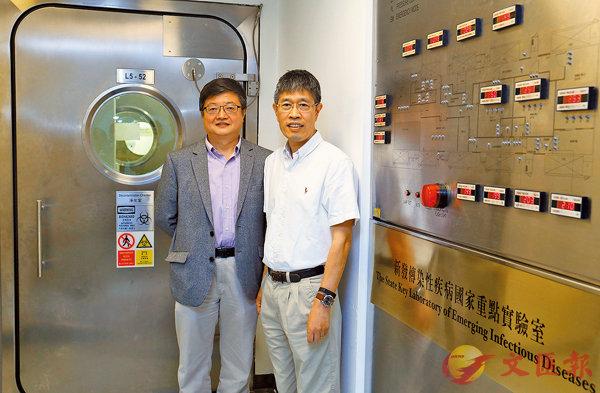 ■陳鴻霖(右)與陳志偉(左)皆認為新突破有助香港吸引人才。港大供圖