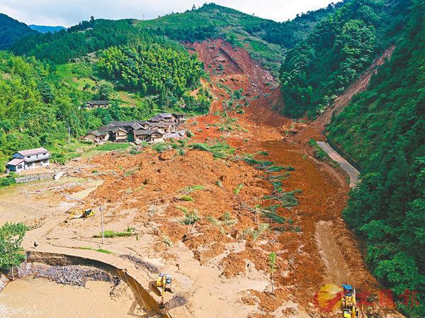 ■特大暴雨容易引發泥石流,因此山腳位置不應建屋。 資料圖片