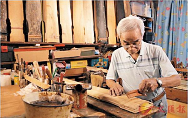 ■蔡昌壽研究古琴工藝多年,自1993年起開設了「斲琴研究班」。 網上圖片