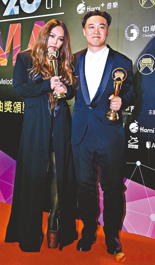 ■陳奕迅和張惠妹今年再逐金曲歌王歌后寶座。 資料圖片