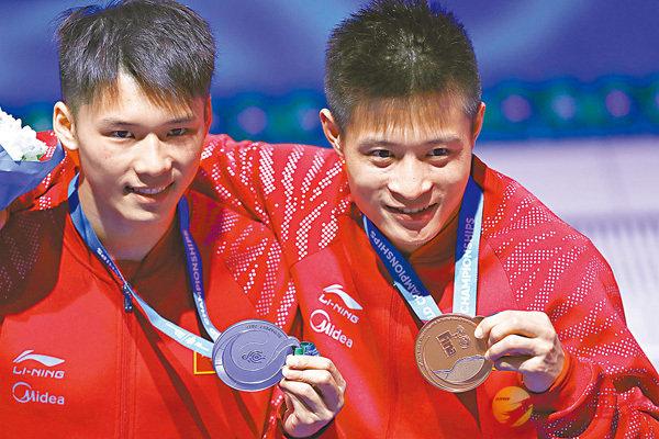 ■陳艾森(左)及楊健均會出戰世界盃。資料圖片