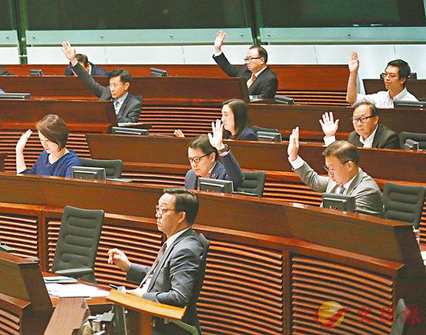 ■建制派動議譴責鄭松泰議案,昨日在反對派阻撓下未獲通過。 香港文匯報記者莫雪芝  攝