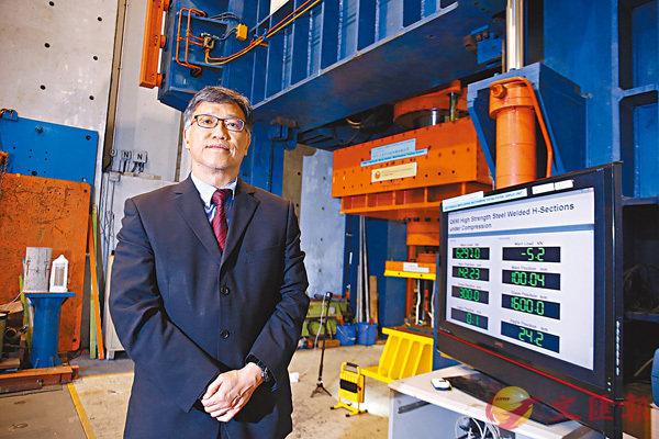 鍾國輝指分中心工作銳意提升國家鋼材質量,讓「中國品牌」優質鋼材能出口世界。香港文匯報記者莫雪芝  攝