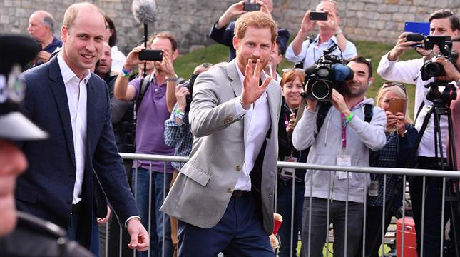 哈里王子大婚在即 和伴郎威廉王子現身溫莎