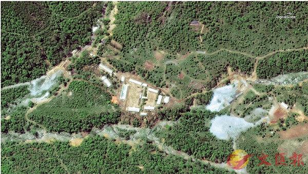 ■朝炸毀核試場坑道。 路透社