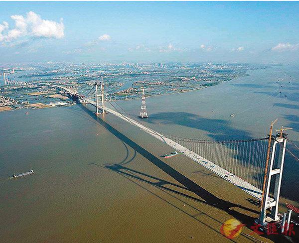 ■坭洲水道橋順利合龍。 受訪者供圖