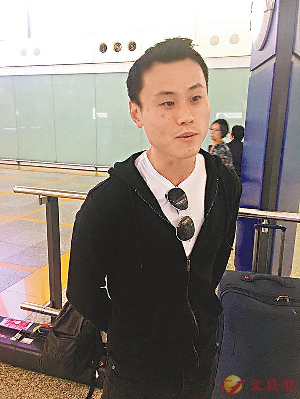 ■李俊威昨返港。香港文匯報記者潘志南  攝