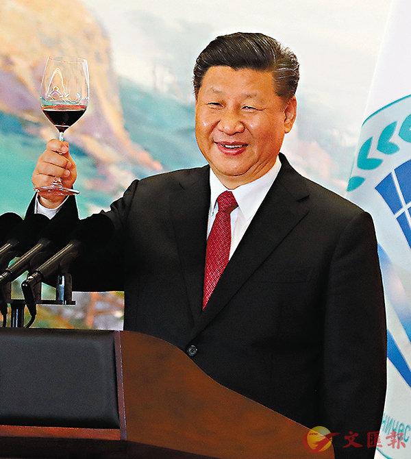 ■ 習近平於上海合作組織青島峰會歡迎宴會上致祝酒辭。 中新社