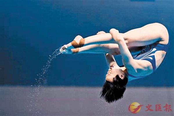 ■施廷懋獲得跳水世界盃三米板冠軍。香港文匯報重慶傳真