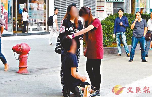 ■網上曾流傳有男士被女友打罵片段。 網上圖片